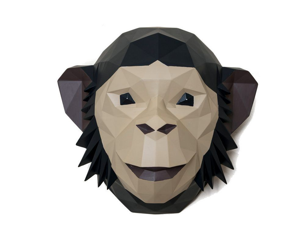 Origami Monkey Head Wall Hanging Click To Expand